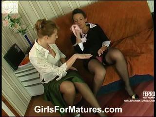 Bridget et sheila milf en lesbie processus