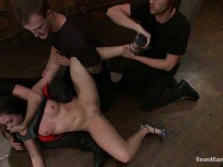 Aria aspen has të saj bythë used brenda seks simultan performanca