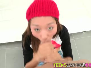 Alina Li loves huge cock