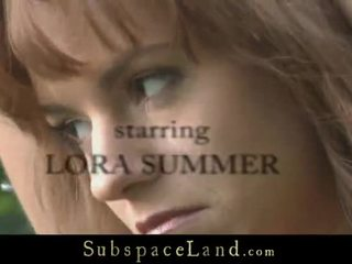 Lora Is Trained To Submit In The Woods