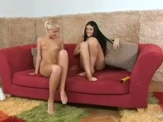 Nasty blonde chick Pink Pussy slides h...