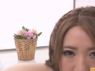 Busty Alice Ozawa vibrates her fat asian puss
