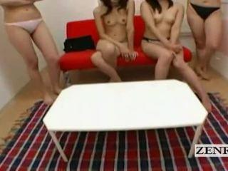 Subtitled pov japonesa universidade dormitório harem teasing