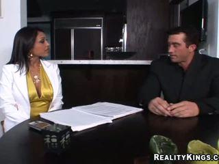 große brüste, große titten, büro