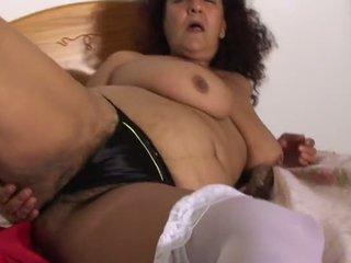 Mature Hairy Black Thong