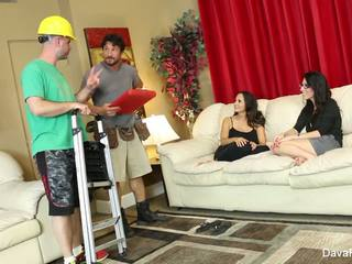 4some wiith Dava, Ava, & two handymen