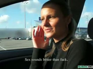 Hot euro babe paid to banged in the car