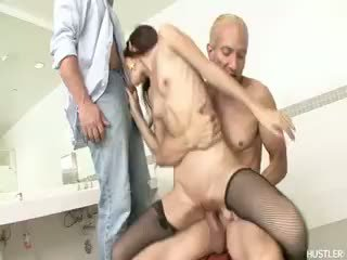 ideal brunette new, blowjob check, hq threesome real