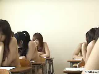 Japanilainen schoolgirls kaikki mennä alasti sisään koulu