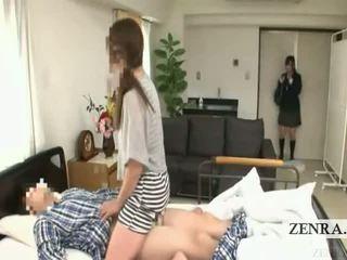 Subtitled japanilainen koulutyttö sairaalan milf yllätys