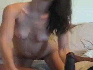 Skinny milf vs Huge black cock Video