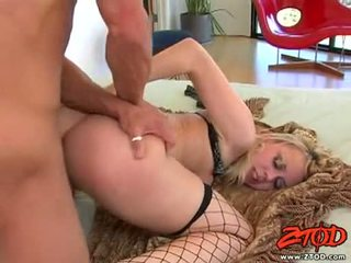 Hawt netted blondie annette schwarz getting pounded on her sugary lovely slit