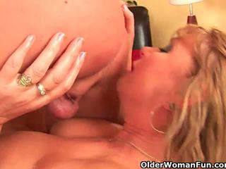 Horny grandma gets her pussy fisted by...