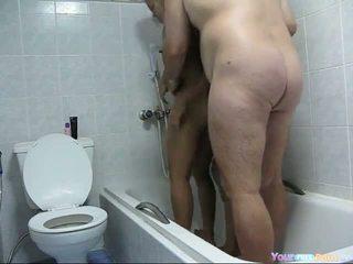 Pattaya 샤워 삼인조 비디오