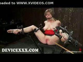 Nakatali adrianna nicole gets flogged at puke toyed