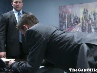 Gaysex boss spanks un fucks tw-nk assistant