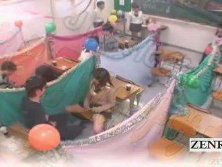 Subtitled japan schoolgirls silid-aralan masturbation cafe
