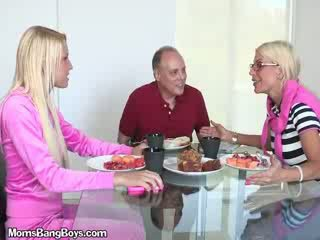 reality, cougar, old, oral, housewives, blowjob