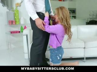 Mybabysittersclub - graziosa giovane babysitter fucks papà per vendetta