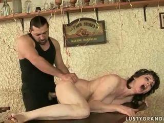 Hot granny enjoys nasty sex