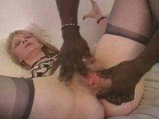 Blondinė prancūziškas močiutė tarprasinis analinis