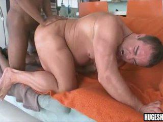 White guy sucking and fucking dark dick