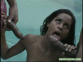 Kid jamajka a mark anthony vták slam tento príťažlivé latina slut1