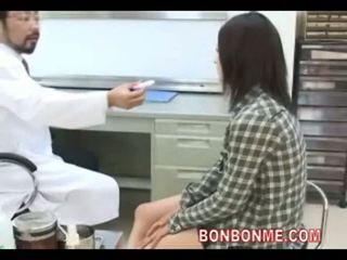 grávida, escritório, médico