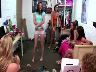 Skanky doll gets her clit licked by girl and dudes