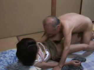 japanilainen, tytär, ukki