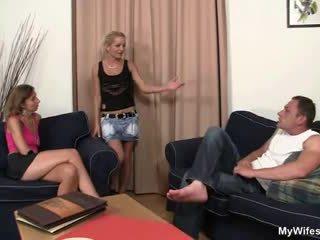 Granny fucks her daughter's hubby