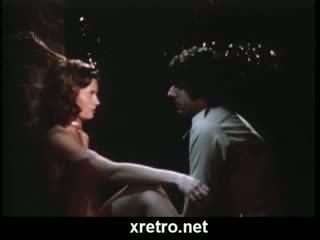Klassiek retro seks film met trio