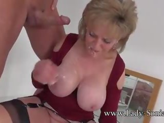Uk MILF Rides Sybian and Sucks a Huge Cock: Free HD Porn 74