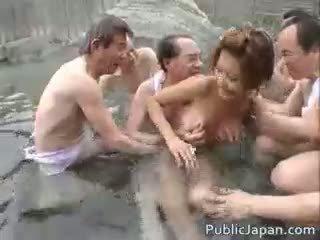 agradável japonês diversão, sexo grupal hq, real voyeur