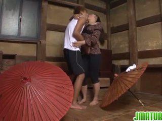 japonés, masturbación, maduro