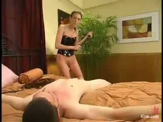 Audrey Leigh Makes Clement Chew Her Strapon Till She Shaggs His Arse Hole