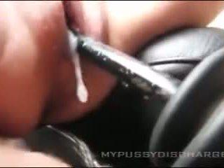 Creamy masturbation burungpun in mobil