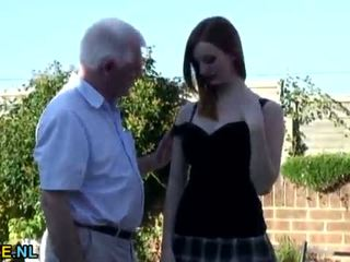 Grandpa fucks a busty teen outdoor <span class=duration>- 6 min</span>