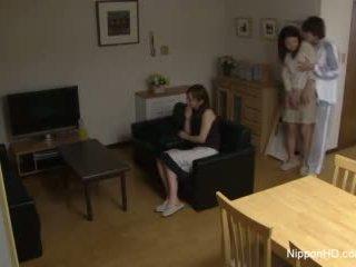 יפני נוער takes a זין