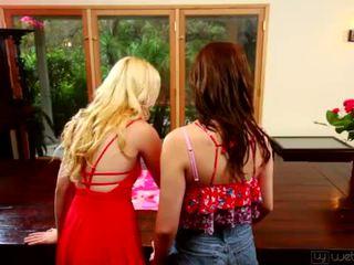 Petite Teens Samantha Rone and Kasey Warner <span class=duration>- 5 min</span>