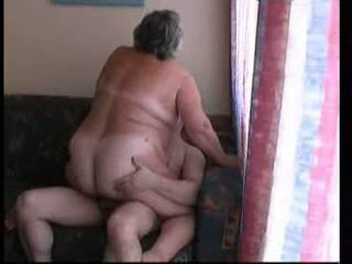 Grandma riding hard on couch Video