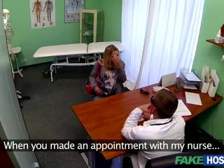Busty Barra gets nailed on hospital bed