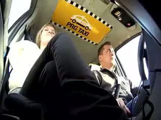 taxi, ceh, blondă