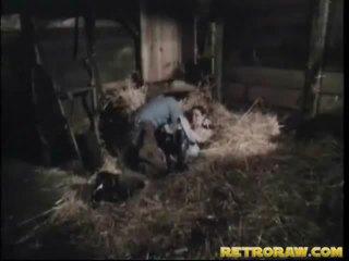 Retro bang wewnątrz że człowiek stables