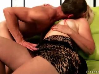 Granny enjoys hot nasty sex with her b...