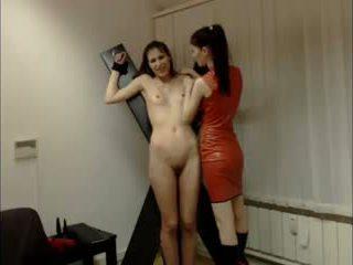 Lesbietiškas domina session apie kamera
