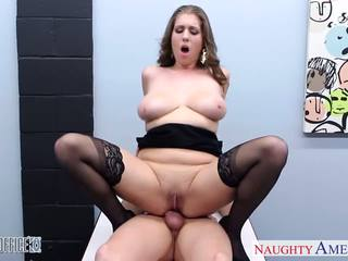 Stockinged cutie alex tikimybė nailed į the ofisas