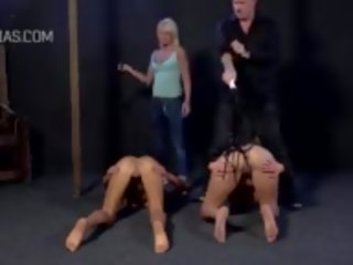 Caning and Clamps Right on the Clit of Slaves: Free Porn ce