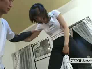 Subtitled japonesa ballet dormitorio stretching juegos preliminares