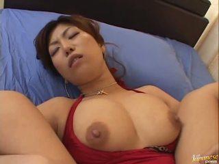 Besar boobed warga asia naho hazuki gets beliau faraj licking